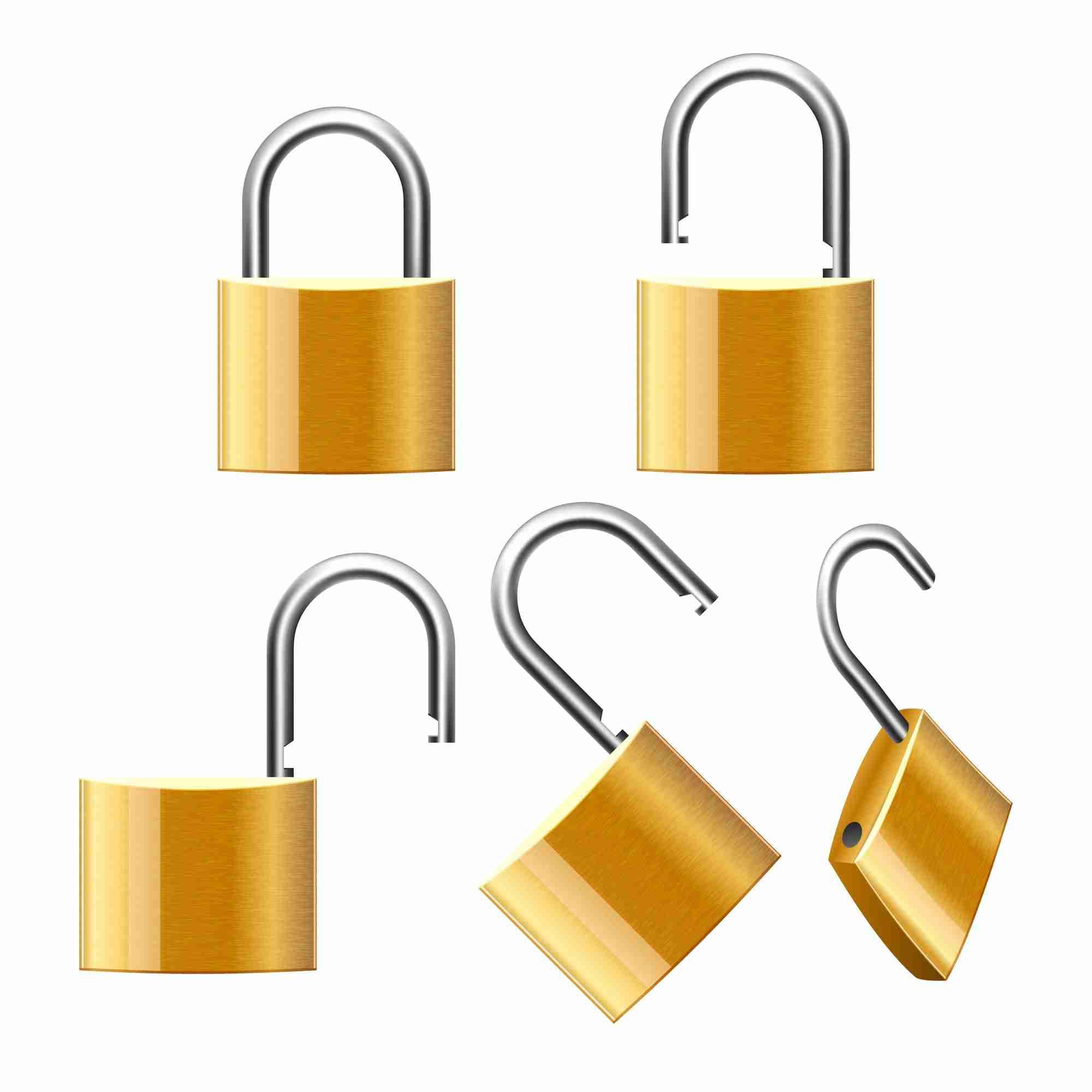 Image of a lock gradually opening